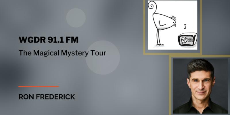 Ron Frederick photo and WGDR 91.1 FM logo